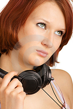 Girl With Headphones Stock Photography - Image: 8484762