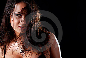 Woman With Wet Hair Stock Photo - Image: 8485710
