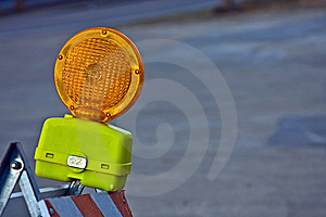 Construction Barricade Light Stock Photo - Image: 8486330
