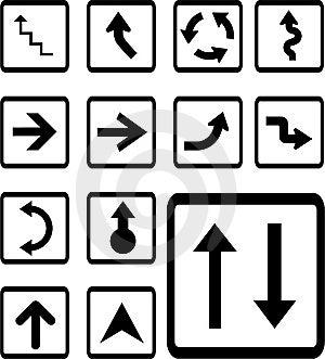Set Icons - 28B. Arrows Stock Photos - Image: 8486463