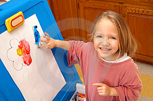 Finger Painting Royalty Free Stock Photo - Image: 8487195