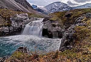 Rocky Mountain Waterfall Royalty Free Stock Photo - Image: 8487215