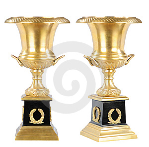 Isolated Golden Cup Stock Image - Image: 8487801