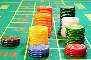 Casino Chips Royalty Free Stock Photo - Image: 8487995
