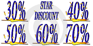 Star Discount Royalty Free Stock Image - Image: 8488316