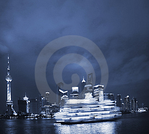 Night View Of Shanghai Royalty Free Stock Photos - Image: 8488488
