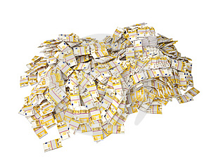 A Lot Of Two Hundred Euro Bills Royalty Free Stock Photo - Image: 8488545