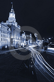 The Night View Of City Royalty Free Stock Image - Image: 8488586
