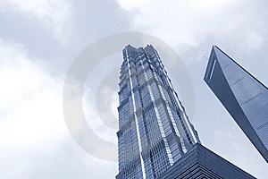 Famous Buildings - Jin Mao Tower Shanghai Stock Photo - Image: 8489070