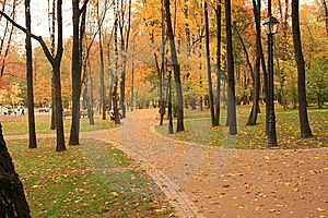 Erholungspark Im Moskau Lizenzfreie Stockfotos - Bild: 8489638