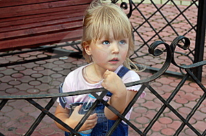 Child's To Glance Imploringly Royalty Free Stock Image - Image: 8490216