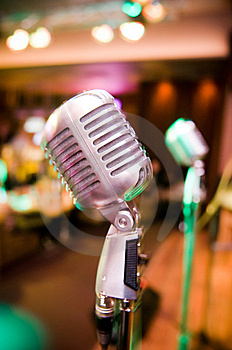 Vintage Microphone Stock Image - Image: 8490511
