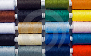 Multicolored Sewing Spools Royalty Free Stock Images - Image: 8490539