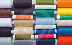 Muticolored Sewing Spools Royalty Free Stock Image - Image: 8490586