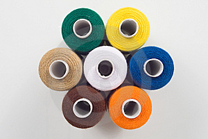 Sewing Spools In Hexagon Shape Royalty Free Stock Photo - Image: 8490675