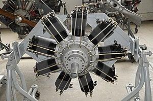 Radial Aircraft Machine Stock Image - Image: 8490951