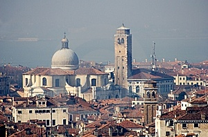 Venice - Church From Bell-tower Royalty Free Stock Images - Image: 8491029
