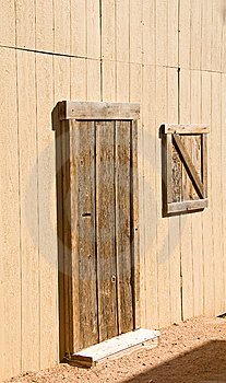 Unpainted Wooden Barn Door And Window Stock Photos - Image: 8491093