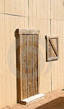 Unpainted Wooden Barn Door And Window Stock Photos - Image: 8491093
