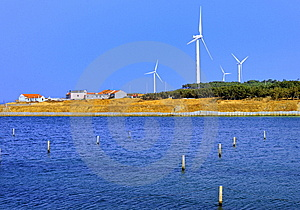 Wind-driven Generator Group Royalty Free Stock Photography - Image: 8491607
