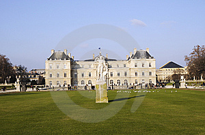 Classical Building With Meadow Royalty Free Stock Photo - Image: 8491705