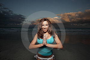 Woman On The Beach Stock Images - Image: 8491824