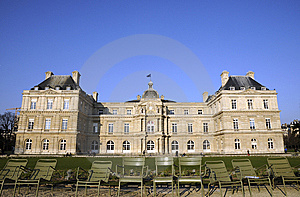 Classical Building With Chairs Royalty Free Stock Photography - Image: 8491847