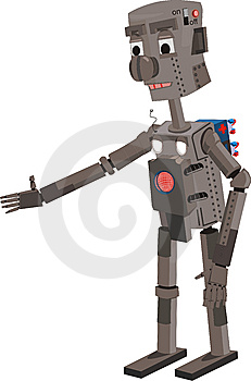 Friendly Robot Stock Image - Image: 8492321