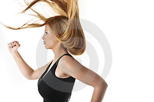 Woman Lifting A Weight Royalty Free Stock Photography - Image: 8492577