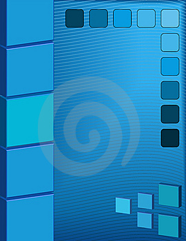 Abstract Blue Square Background Stock Images - Image: 8492964