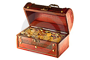 Chest With Coins Stock Photos - Image: 8493853
