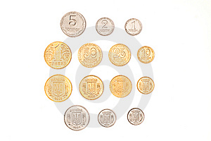 Ukrainian Coins Stock Photography - Image: 8493872
