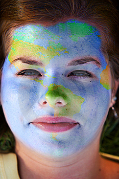 Face Paint - World Royalty Free Stock Photo - Image: 8494435