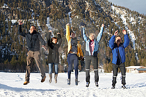 Jumping In Joy Stock Images - Image: 8494544