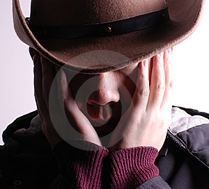 Face Covered Royalty Free Stock Image - Image: 8494586