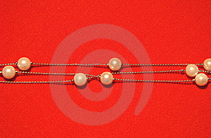 Beads From Paste Pearl Stock Photos - Image: 8494783