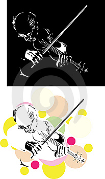 Abstract Violinist Royalty Free Stock Photography - Image: 8495597