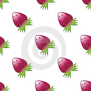 Glossy Strawberry Pattern Stock Photography - Image: 8496452