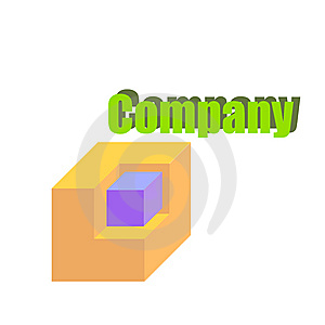 Logo Cube Royalty Free Stock Photography - Image: 8496627