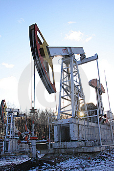 Two Oil pumps Stock Images