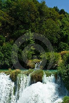Beautiful Forest Waterfall, Croatia Royalty Free Stock Image - Image: 8497936