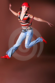 The Young Beautiful Girl During Active Leisure Royalty Free Stock Photo - Image: 8498035
