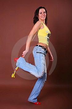 Aktywni Piękni Dziewczyny Czas Wolny Potomstwa Obraz Stock - Obraz: 8498181