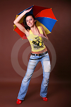 The Young Beautiful Girl During Active Leisure Stock Image - Image: 8498201