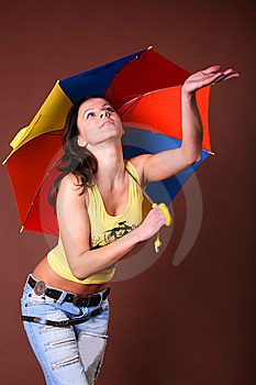 The Young Beautiful Girl During Active Leisure Stock Photography - Image: 8498232