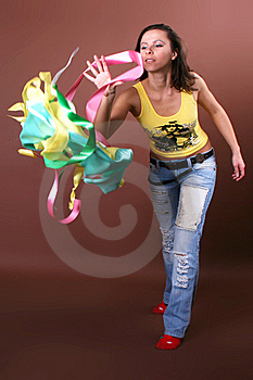 The Young Beautiful Girl During Active Leisure Stock Photo - Image: 8498260