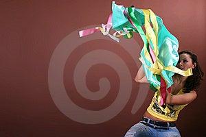 Aktivt Härligt Flickafritidbarn Royaltyfria Bilder - Bild: 8498269