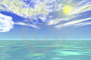 Sea View Of Eden Royalty Free Stock Images - Image: 8498319