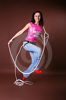 The Young Beautiful Girl During Active Leisure Stock Photos - Image: 8498323