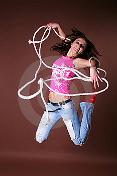 The Young Beautiful Girl During Active Leisure Stock Images - Image: 8498334